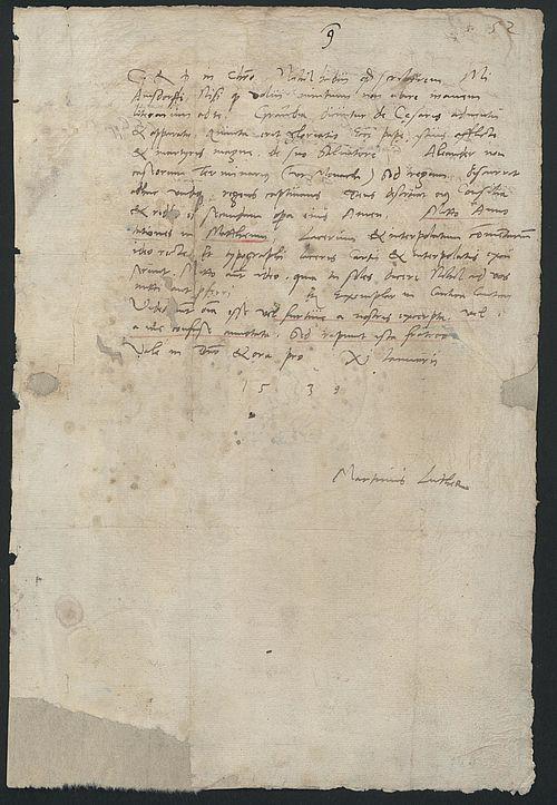 Briefe Von Luther : Brief martin luthers an nikolaus von amsdorf januar